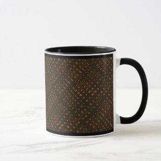 Rustic Dark Burlap with Glow Mug