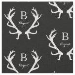 Rustic Deer Antlers Monogram, Choose Your Colour Fabric