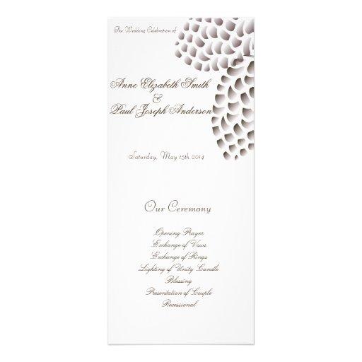 Rustic Elegant Pinecone wedding program Rack Cards