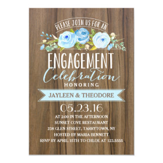 Rustic Engagement | Engagement Party Card