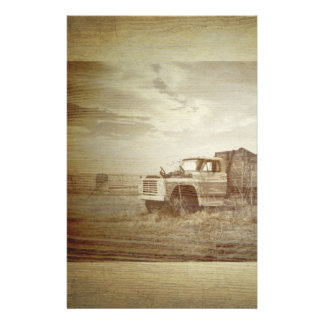 Rustic Farm Truck Western Country Wedding Stationery