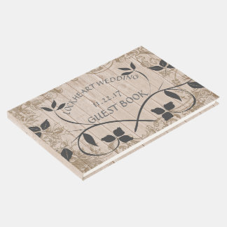 Rustic Floral Wedding Guest Book