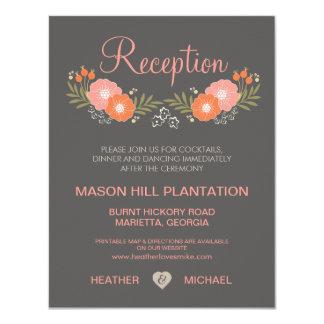 Rustic Floral Wedding Reception Cards 11 Cm X 14 Cm Invitation Card
