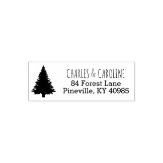 Rustic Forest Pine Tree | Wedding Self-Inking Self-inking Stamp