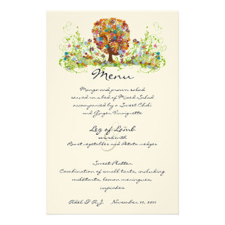 Rustic Forest Wedding Menu