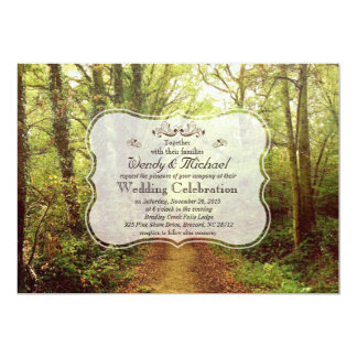 Rustic Forest Woodland Wedding Invitation