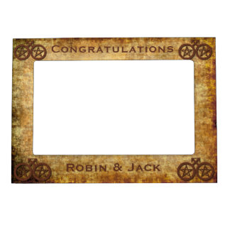 Rustic Gay Wiccan Handfasting Pentacle Gift Frame Photo Frame Magnet