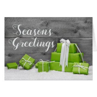 Rustic Gifts Snow Holiday Seasons Greetings Card