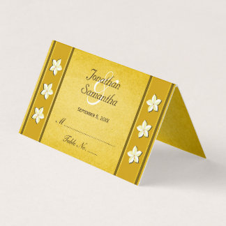 Rustic Gold Floral Wedding Table Place Cards