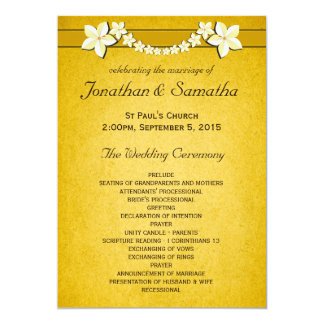 Rustic Gold Wedding Program Ceremony & Party