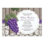 Rustic Grape Bridal Shower Invitations