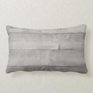 Rustic grey wood photo design lumbar pillow