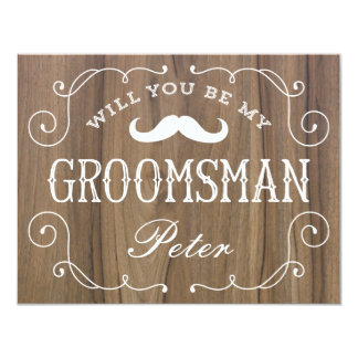Rustic Groomsman | Groomsmen 11 Cm X 14 Cm Invitation Card