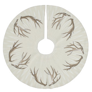 Rustic Home Deer Antlers Christmas Tree Skirt
