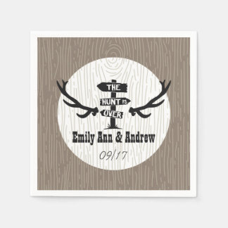 Rustic Hunt is Over Barnwood Disposable Serviettes