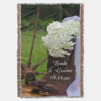 Rustic Hydrangea and Cowboy Boots Western Wedding