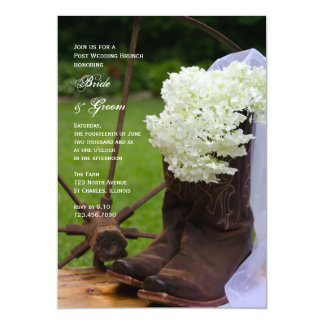 Rustic Hydrangea Post Wedding Brunch Invitation