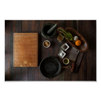 Rustic Kitchen Poster