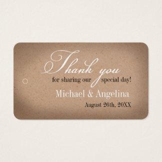 Rustic Kraft Design 100/pk DIY Wedding Favour Tags
