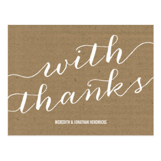 Browse the Rustic Wedding Thank You Postcards Collection and personalise by colour, design or style.