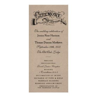 Rustic Kraft Wedding Ceremony Program Templates Rack Cards