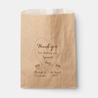Wedding Favor Bags Nz : Rustic Kraft Wedding Favor bags Thank you Favour Bags