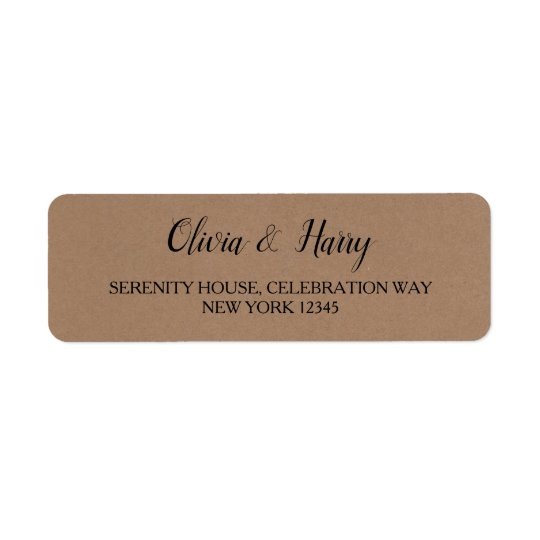 Rustic Kraft | Wedding Return Address Labels
