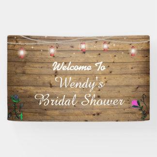 Rustic Lantern Lights Bridal Shower Poster