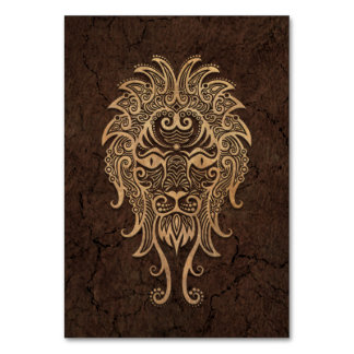 Rustic Leo Zodiac Sign on Stone Effect Card