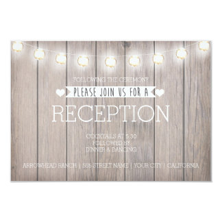 RUSTIC LIGHTS - RECEPTION CARD