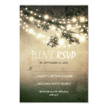 Rustic lights wedding RSVP cards Invitations