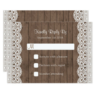 Rustic Mason Jar Wedding RSVP Response Card