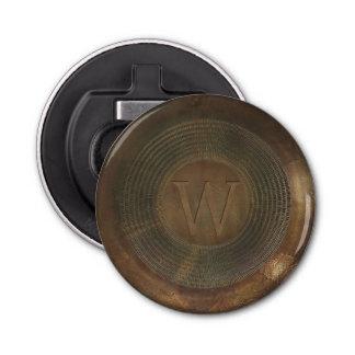 Rustic metal W monogram bottle opener
