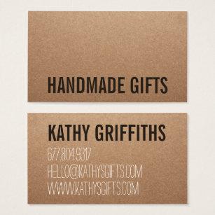 1000 kraft business cards and kraft business card templates rustic modern brown kraft paper handmade cardboard business card reheart Images