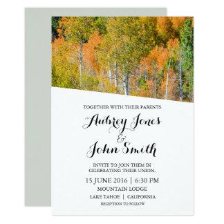 Rustic Mountain Autumn Wedding Invitation