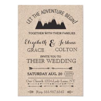 Rustic Mountains Wedding Invitation