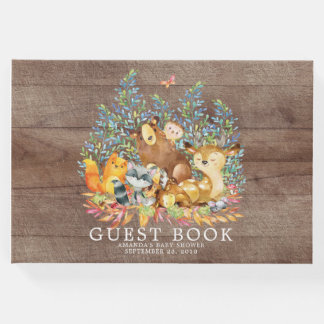Rustic Neutral Woodland Baby Shower Guest Book