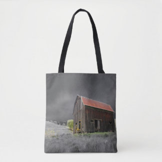Rustic Old Barn Vintage Farmhouse Tote Bag