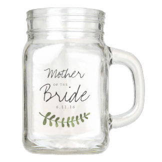 Rustic Ombre Watercolor Forest Wedding Mother Mason Jar