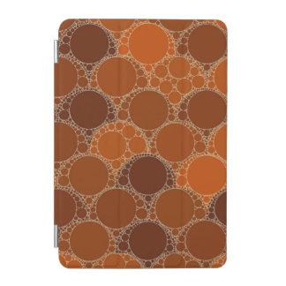 Rustic Orange Brown Circle Abstract iPad Mini Cover