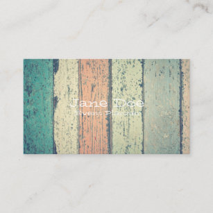Barn wood business cards zazzle nz rustic painted wood business cards reheart Image collections