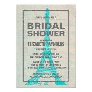 Rustic Paris Bridal Shower Invitations