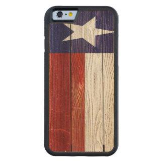Rustic Patriotic Texas Flag Maple iPhone 6 Bumper