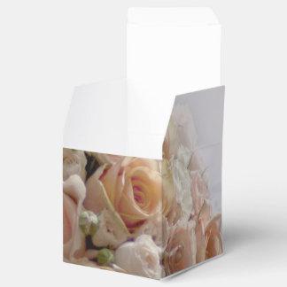 Rustic Peach Rose White Wedding Design Favour Box