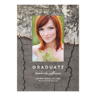 Rustic Photo Graduation Party and Announcement