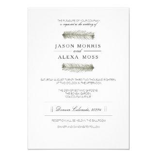 Rustic Pine | Elegant Mountain Wedding Card