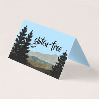 Rustic Pines Food Table Tent Cards | You Customise