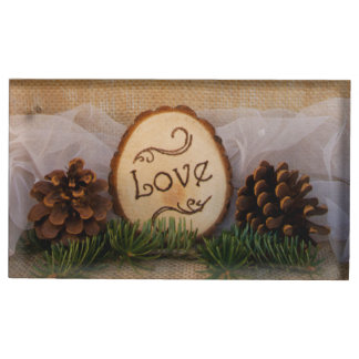 Rustic Pines Woodland Wedding Place Card Holder