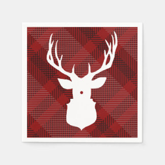 Rustic Plaid Deer | HOLIDAY NAPKINS Disposable Napkin