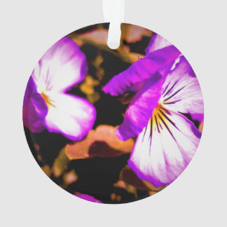Rustic Purple and White Pansy